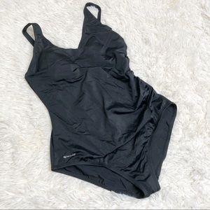 Black one piece Speedo swimsuit 14